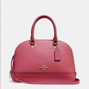 Coach Retail$300 Mini Sierra Satchel In Rouge Gold